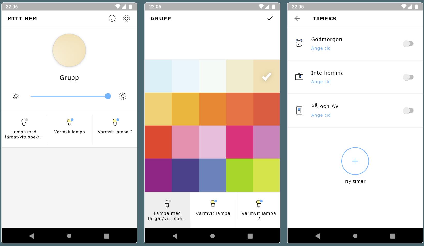 Ikea Trådfri-appen på Android