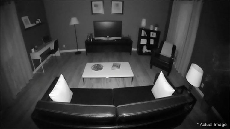 Bild från mörkerseende 180°-övervakningskamera