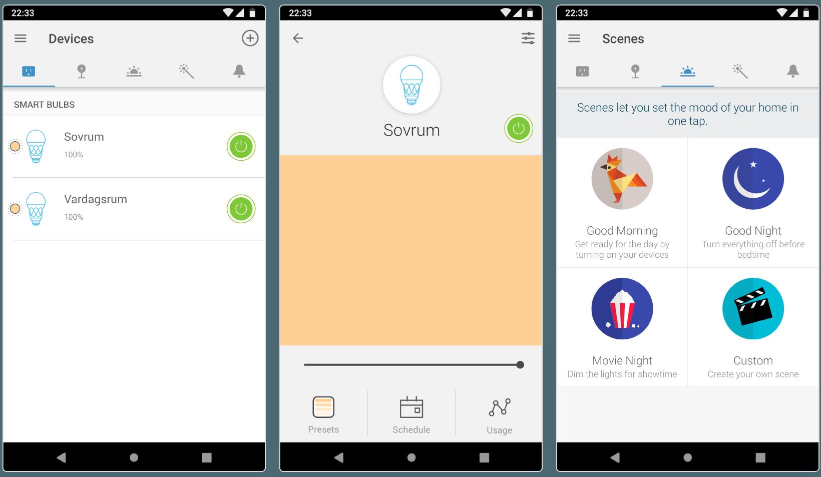 TP-link Kasa-appen på Android