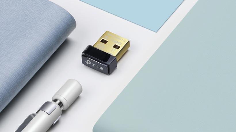 USB-nätverkskort på skrivbord
