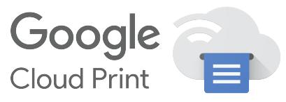 Logotypen som pryder Google Cloud Print-kompatibla skrivare.